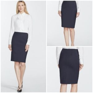 NWT Lafayette 148 Virgin Wool Stretch Pencil Skirt